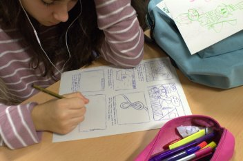 Dibuixant el còmic 1